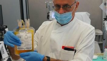 Tratamiento experimental plasma anticuerpos Italia