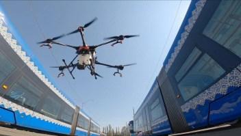 Drones para desinfectar el transporte público