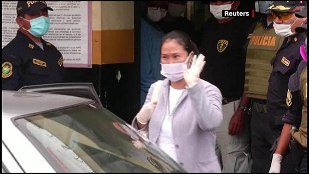 Keiko Fujimori sale de la cárcel
