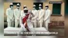 El mensaje de los ghaneses del ataúd a los sanitarios
