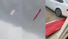 Grababan tornado en Apodaca y casi les cae una lámina