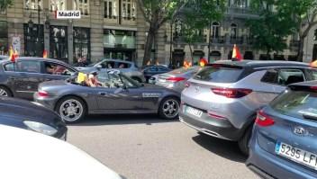 Las protestas contra el Gobierno en España en vehículos