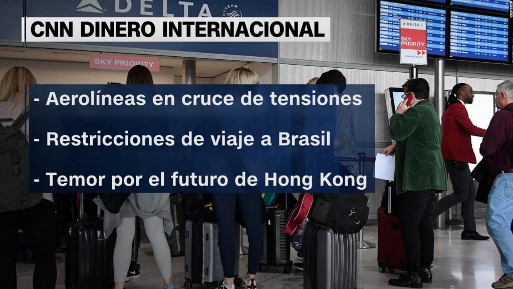 Tensiones con China afectan a aerolíneas de Estados Unidos