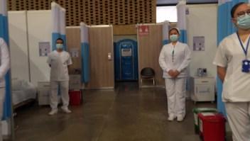 Hospital transitorio en Bogotá recibe a sus primeros pacientes
