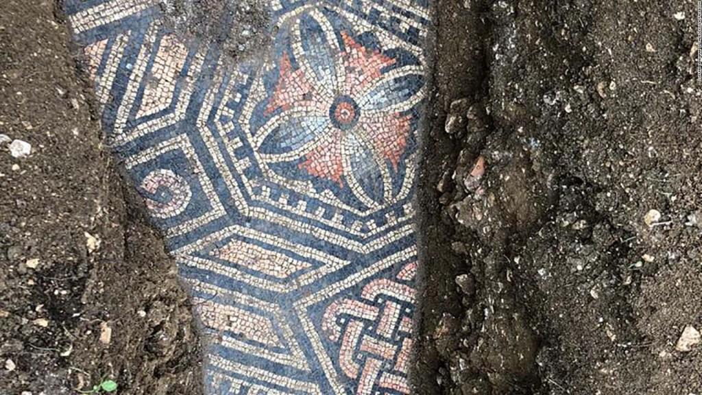 Este hermoso mosaico romano estaba oculto bajo un viñedo