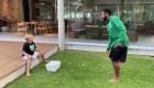 Neymar Jr. y la broma a su hijo