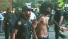 Incendios, balas de goma, gases y caos en centro de Atlanta