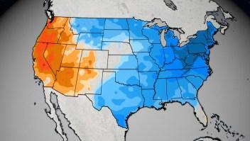 Récord de calor regresa al oeste de Estados Unidos mientras récord de frío se precipita al este
