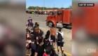 Un camión avanza contra manifestantes en Minnesota