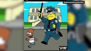 """Homenaje a George Floyd con personajes de """"Los Simpsons"""""""