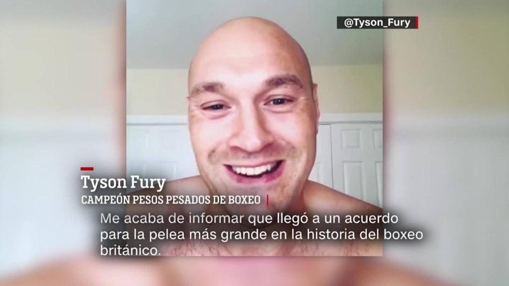 La emoción de Tyson Fury por su pelea con Anthony Joshua
