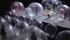 Concierto entre burbujas para protegerse del covid-19