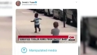 Trump publica video manipulado para desprestigiar a CNN