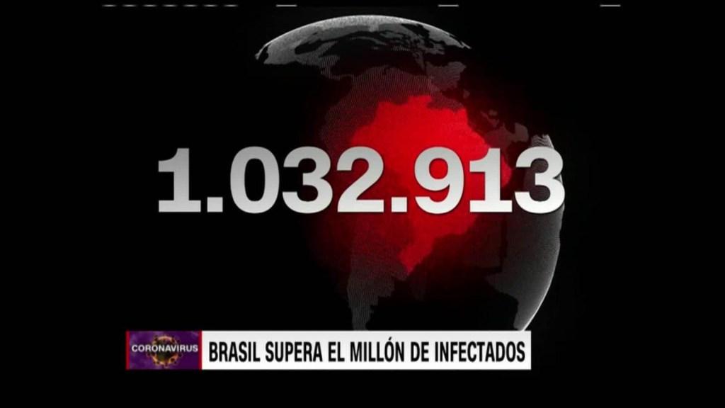Brasil superó el millón de infectados de covid-19
