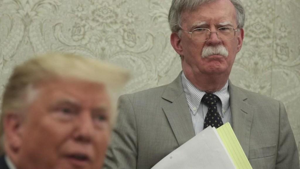 John Bolton describe por qué no votará por Trump