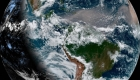Así se ve el polvo del Sahara sobre el Atlántico