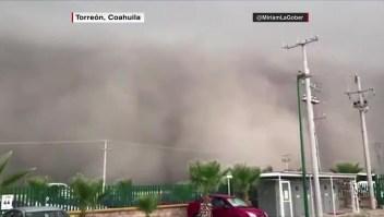 México: arena en el norte y polvo del Sahara en el sur