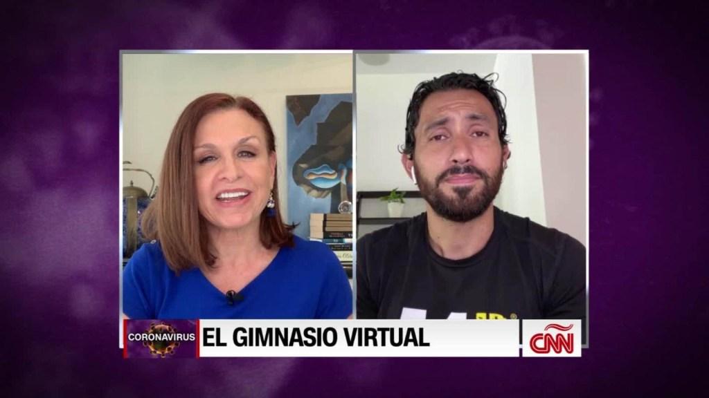 Mira el gimnasio virtual de un exfutbolista que se viralizó