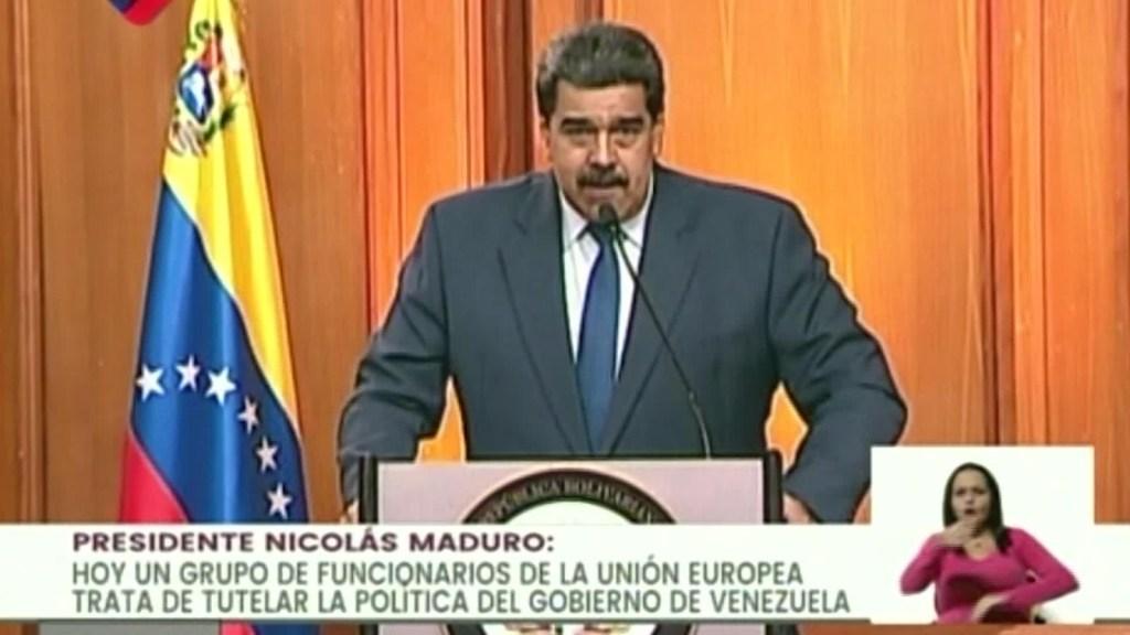"""Maduro: """"Basta de colonialismo europeo contra Venezuela"""""""