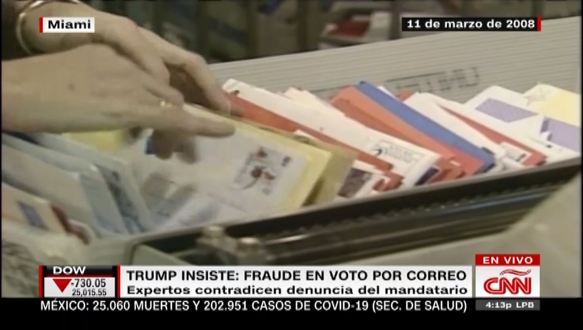 Trump y Barr insisten en que el voto por correo se presta a fraude electoral en EE.UU.