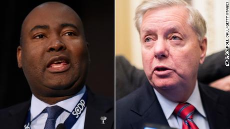 Campaña de Graham aclara la piel de su oponente Harrison en aviso
