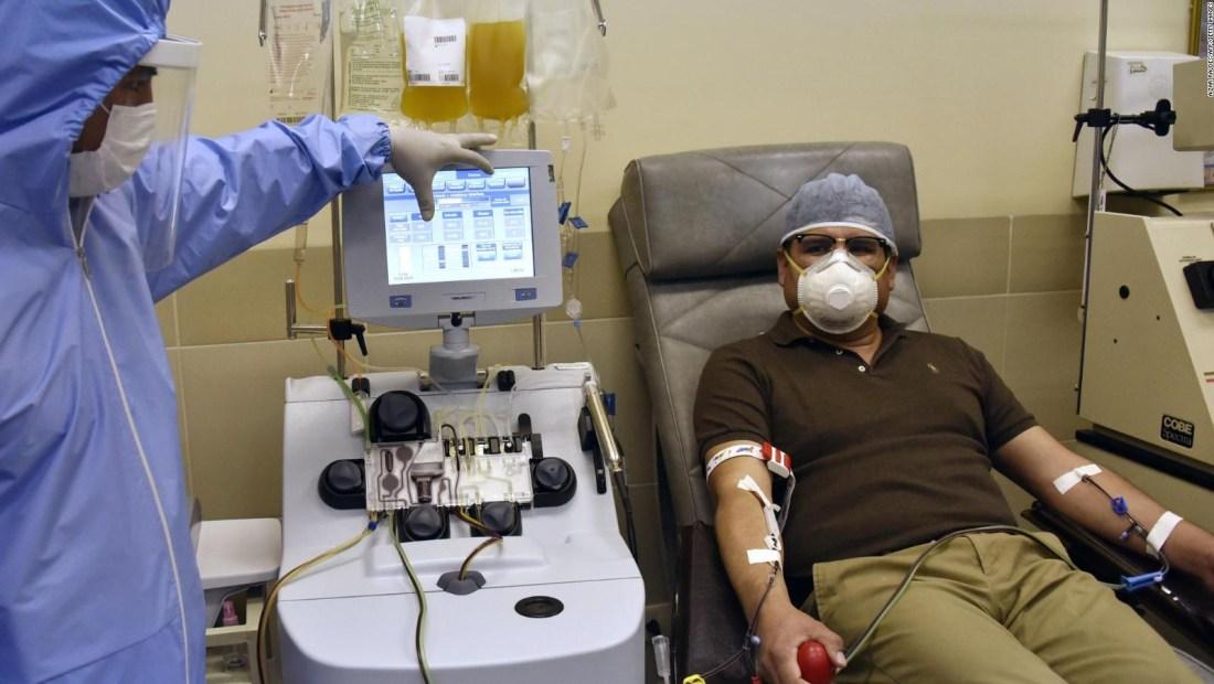 Escasez de plasma para pacientes con covid-19 en Bolivia