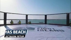 """UFC: Así luce el octágono playero de """"La Isla del Combate"""""""
