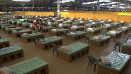 El hospital más grande para pacientes de covid-19