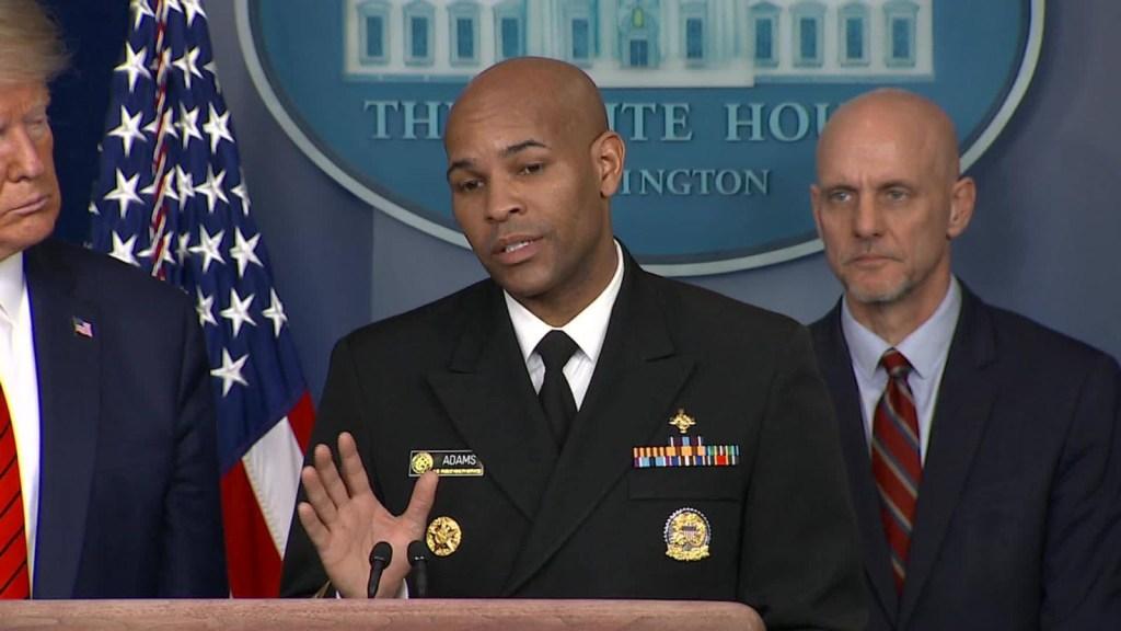 Jerome Adams pide respetar el uso de mascarillas en EE.UU.