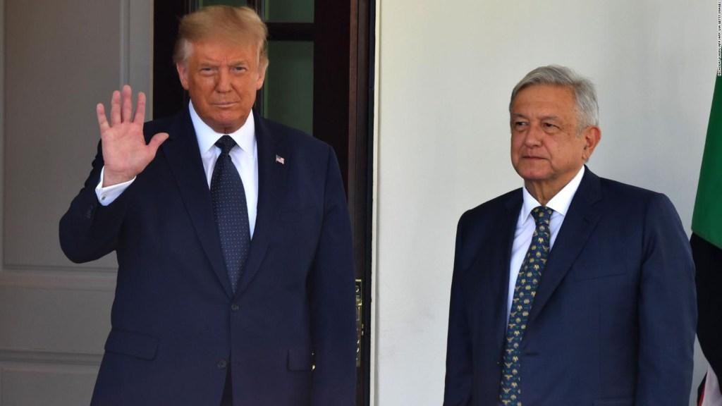 ¿Usó la campaña de Trump la visita de AMLO como propaganda?