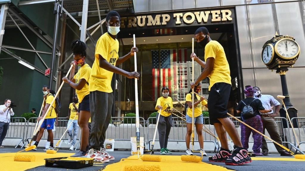 A pesar de Trump, BLM tiene su cartel en Manhattan