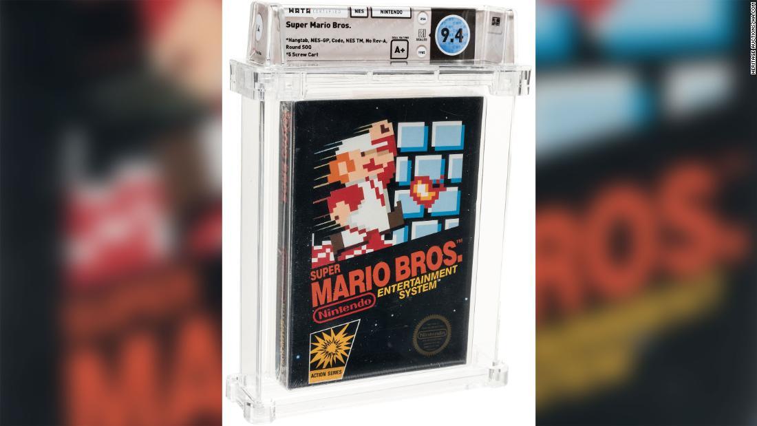 Alguien pagó una suma récord de US$ 114.000 por un raro videojuego de Super Mario Bros.