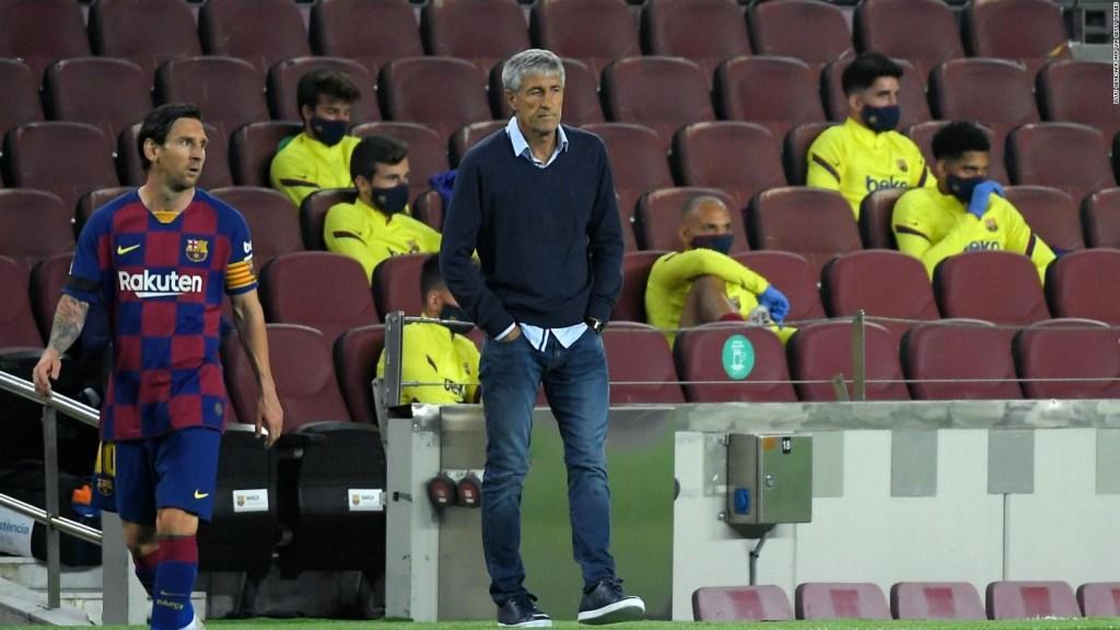 Quique Setién dice que se siente respaldado por Messi