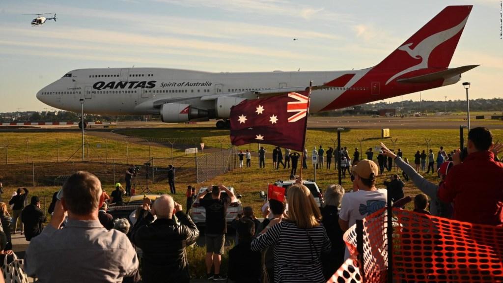 Se despide el último Boeing 747 de Qantas