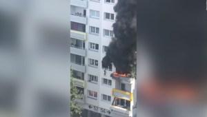 Multitud salva a niños de un edificio en llamas en Francia