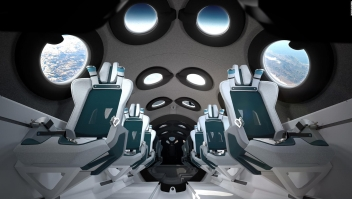 Así viajarán los turistas al espacio en la nave de Virgin Galactic