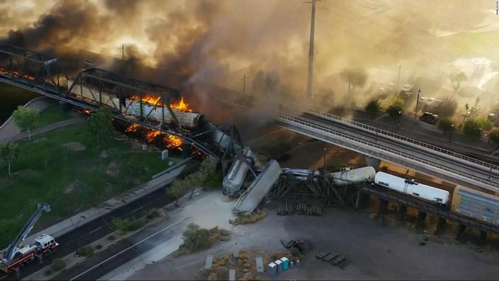 Accidente de tren en Arizona deja un herido leve