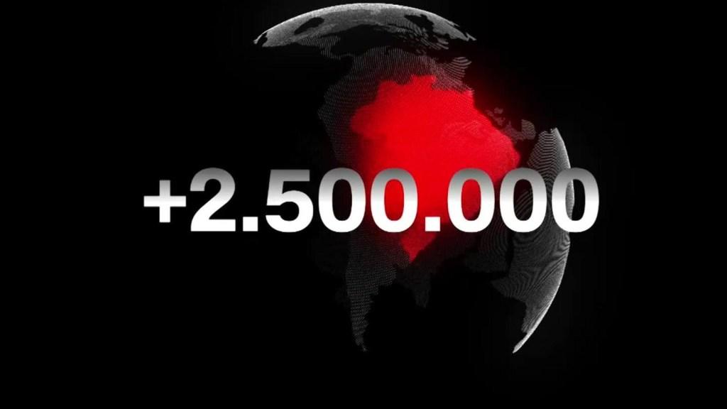 Brasil supera los 2,5 millones de infectados de covid-19