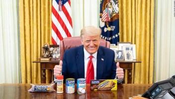 La campaña de Trump lanza una nueva campaña publicitaria en español que defiende a Goya en medio de boicots
