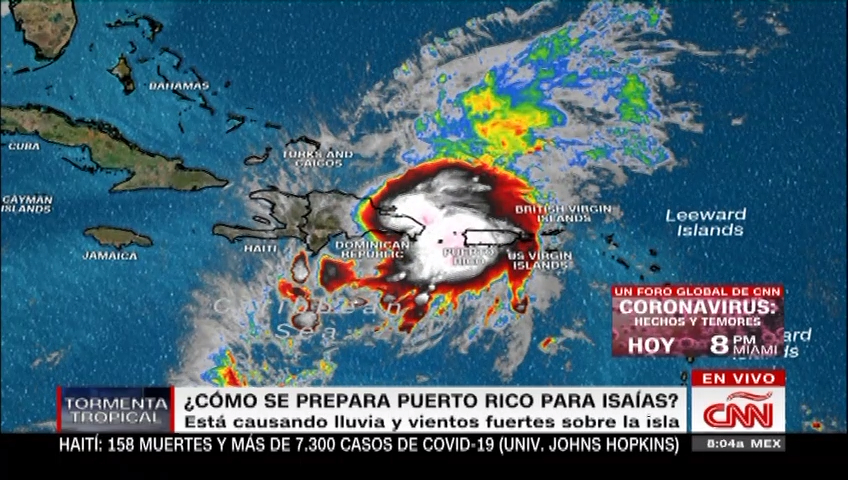 Puerto Rico, on alert for storm Isaías
