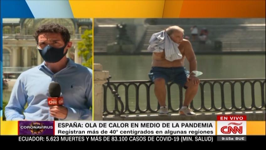 España enfrenta ola de calor y más casos de covid