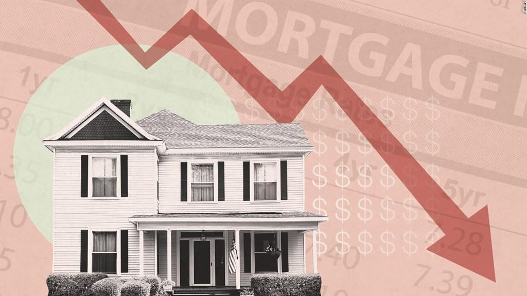 Tasas hipotecarias caen a mínimos históricos en EE.UU.