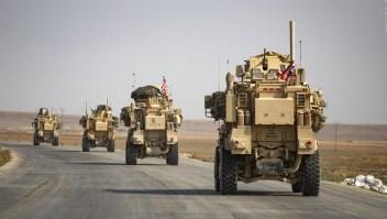Vehiculo estadounidense colisiona con convoy ruso en Siria