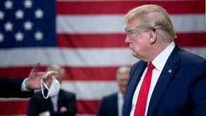Trump justifica su manejo de la pandemia