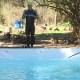 Una piscina, el mejor regalo para Sebastián