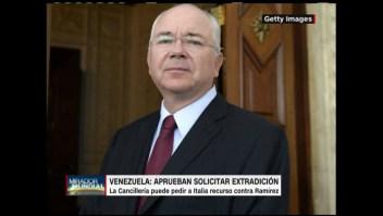 Venezuela: avalan pedir a Italia extraditar a exministro