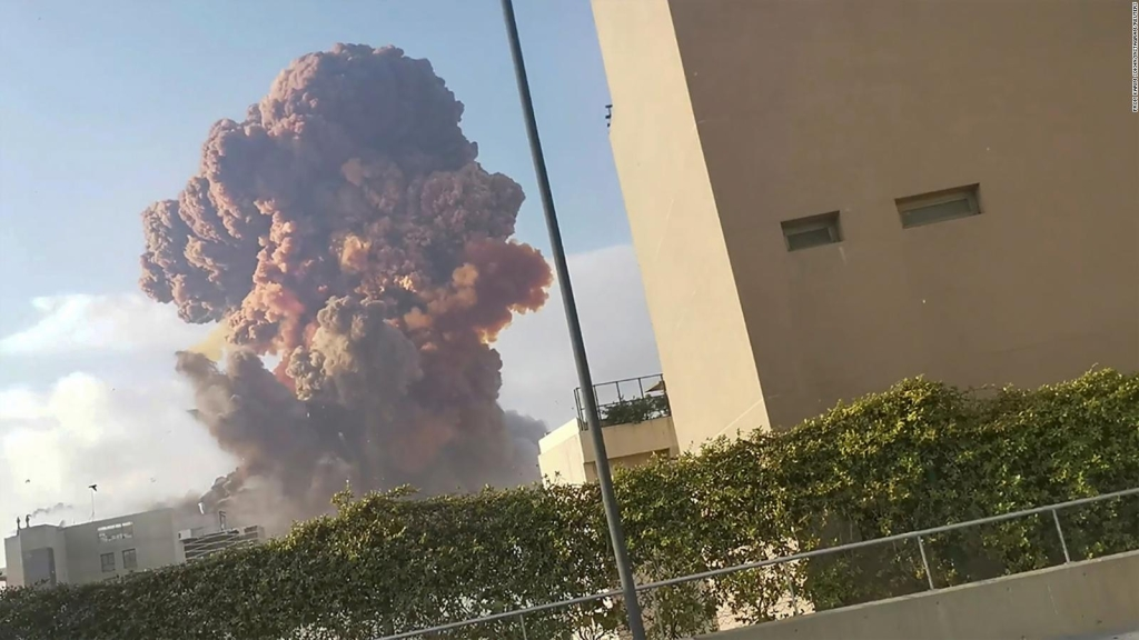 Nitrato de amonio podría ser causa de explosión en Beirut
