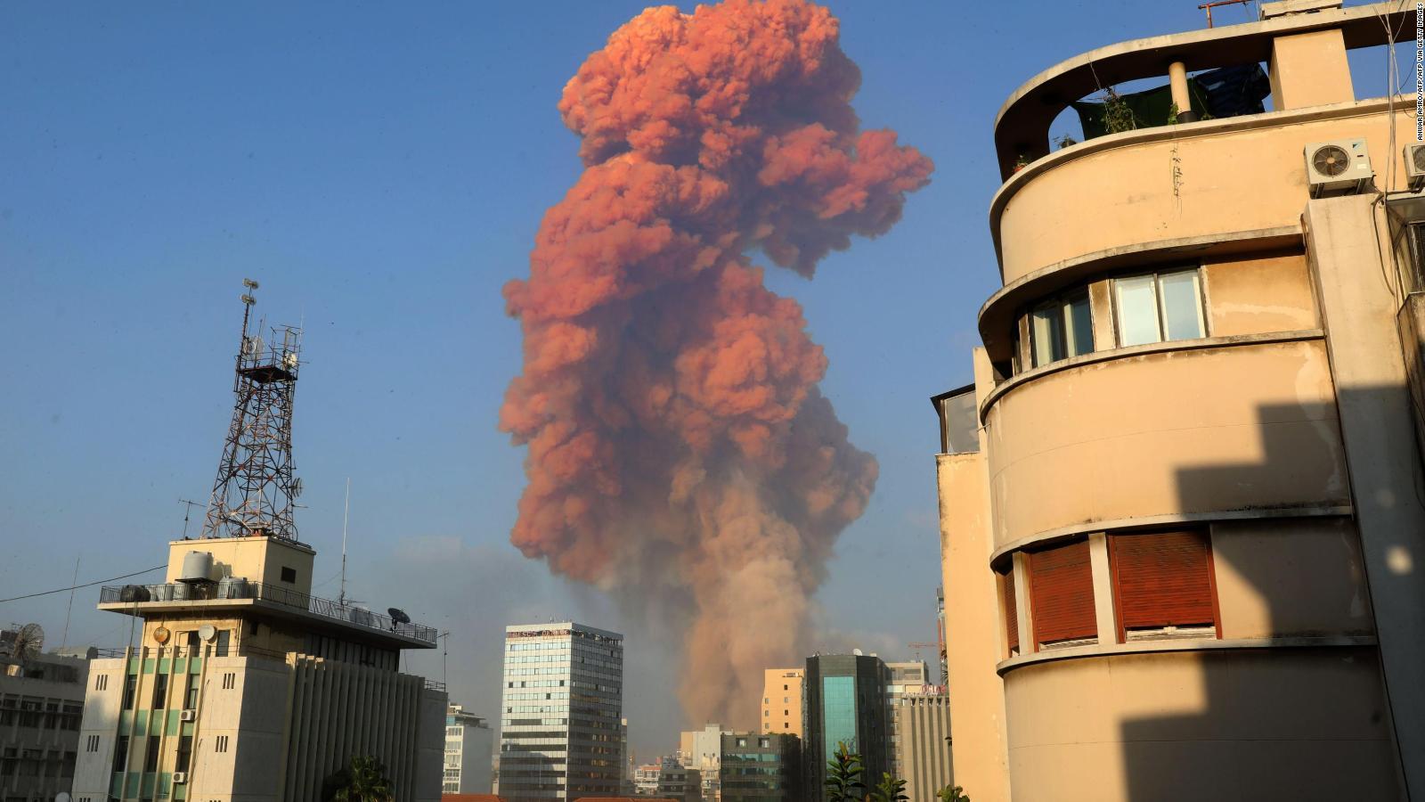 Videos muestran la explosión en Beirut