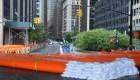 Nueva York: Barreras inflables ante la llegada de Isaías