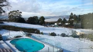 Registran una nevada inusual en Australia